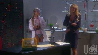 Blonde milf Stormy Daniels fingers lab girl Sammie Rhodes image