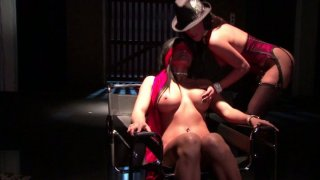 Two naughty babes Stephanie Swift and Max Mikita share one cumshot image
