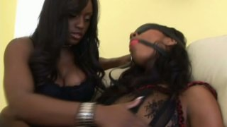 Two black chicks Jada Fire & Misty Stone have a plan to please a cock image