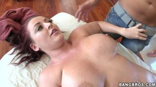 Redhead sex demon Sophie Dee blows and_fucks doggystyle image