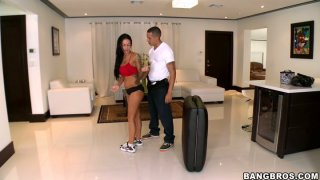 Erotic massage brings lots of joy and pleasure to horny Angelina Valentine image