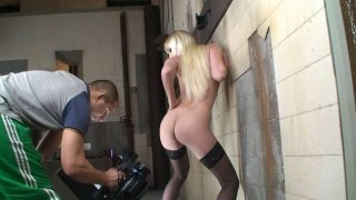 Tight blonde hoe Lena Cova masturbates in front of the cam image