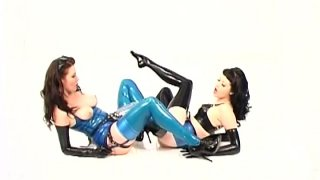 Latex angles Mary Janine and Anastasia Pierce fuck each other image