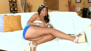 Beautiful brunette MILF Isis Love_gives titjob and blowjob image