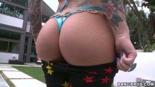 Heavy assed brunette Christy Mack_shows_off her assets image