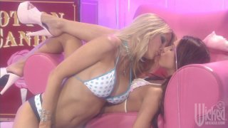 Two candy_girls_Jessica Drake and  Kirsten Price loving each other image