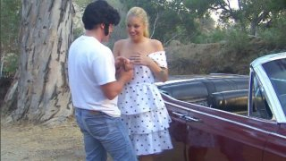 Image: Vintage styled girl Hollie Stevens gets_fucked in retro car
