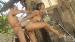 Crazy pounding for village style girl Kaylani Cream image