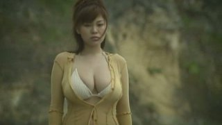 Beautiful BBW jap babe Yoko Matsugane brags with her heavy tits image