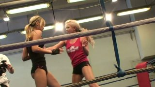 Aleska Diamond and Cristal May starring in a hot fighting action image