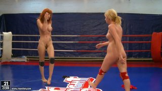 Furious fight performed by Safira White and her fierce partner image