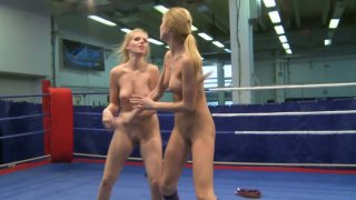 Katalin and Lily Love are having passionate lesbian sex after a hot fight image
