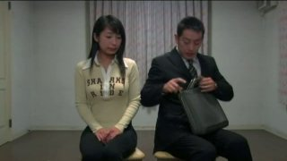 Lonely Japanese girl Arisa Oda is abused by weird dude image