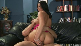 Furious bitch Emma Heart gives a deepthroat blowjob and bounces on a shaft stretching her asshole as hell image