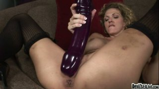 Roxanne Hall operates with  gigantic_dildo image