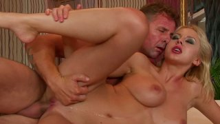 Romantic quickie with palatable blond babe Mandi Dee image