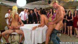 Cock sucking contest of Jamie Valentine, Veronica Rodriguez and Rikki Six image