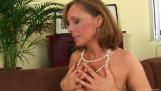 Romantic blonde mom Margit gets fucked by lucky stud Ryan image