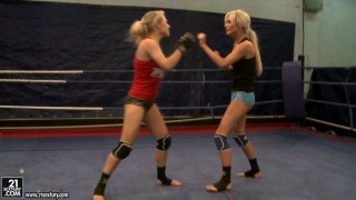 Image: Michelle Moist and_Laura Crystal nude fight
