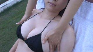 Touchy Asian sweetheart Mami Nagaoka receives hot massage image