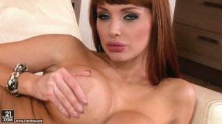 World famous porn star Aletta Ocean gives tempting_striptease show image