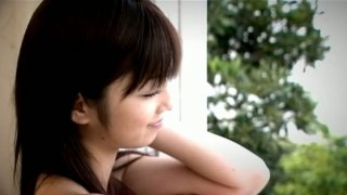 Funny Asian girlie Yuko Ogura shows her body and plays_with balloons image