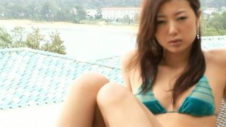 Slim Asian girlie Haruka Ogura loves to show her tits and nice ass image