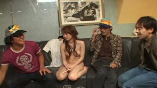 Image: Horny Jap chick Hikaru Houzuki feels great naked in front of her friends