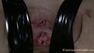 Demonic Elise Graves loves gonzo BDSM games. Creepy video image