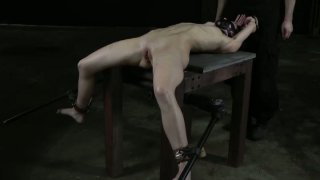 Skinny whore Elise Graves is crazy about tough BDSM games image