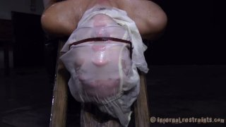 Image: Skanky chick Rain DeGrey with filthy thoughts realizes her dreams in BDSM video