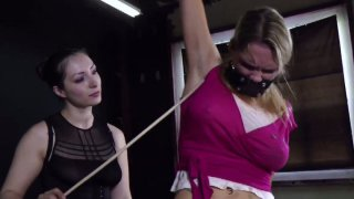 Image: Tatted bitch Rain DeGrey gets tied up and tortured in BDSM video
