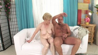 Old momma Maria E getting her hairy snatch fucked image