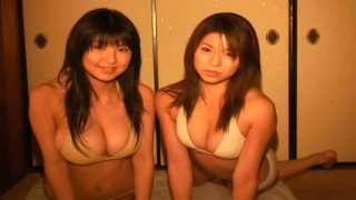 Miri Hanai and her friend are having fun on a girly party image
