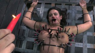 Full_figured_busty_whore_Penny_Barber_gets_punished_by_pins image