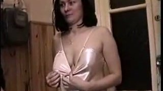 Sexy GF in her nigh gown  rides cock and_sucks finger image