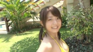 Image: Japanese teen Shizuka Nakamura in the bathroom washing