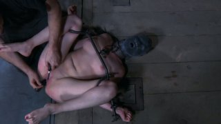 Brunette slut Nyssa Nevers is tortured in a gonzo BDSM video produced by Infernal Restraints image