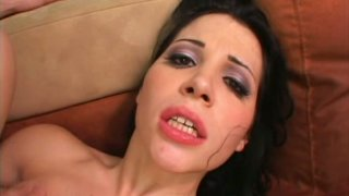 Dick hungry bitch Rebeca Linares sucks a cock tenderly for sperm image