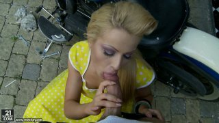 Asshole fucking time with_beautiful blondie Chary Kiss image