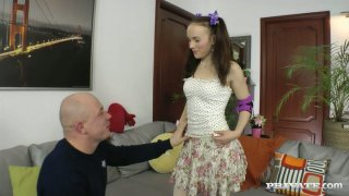 Russian slutty roller Polly Sunshine gets her wet honey cunt licked image
