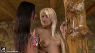 Dripping wet cunt of gorgeous Lana S gets licked by sexy slut image