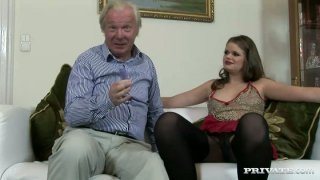Old daddy drills young slut Jenny Noel in Private sex video image