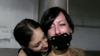 Sextractive brunette Elise Graves in sensual BDSM sex video image