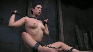 Milf doxy Marina gets fucked by dildo in dirty BDSM sex video image