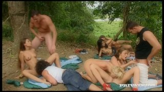 Mind blowing orgy in the woods with sultry hooker Gilda Roberts image