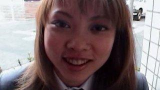Horny teen slut Miyuki Houziyou masturbates in a toilet image