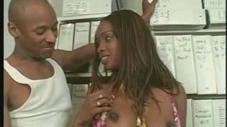 Spoiled black girlie Hypnotiq provides a dick with a deepthroat image
