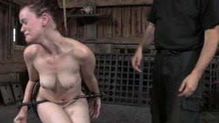 Gonzo slut Hazel Hypnotic is fited in BDSM scene image