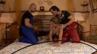Image: Mature sexploitress Evelina Marvellou in group sex video by Private